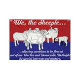 """We the Sheeple..."" Rectangle Magnet (100 pack)"