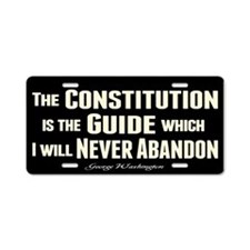 Washington Quote - Constitution Aluminum License P