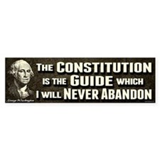 Washington Quote - Constitution Bumper Sticker