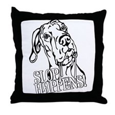 Slop Happens UC B&W Throw Pillow