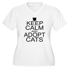 Keep Calm and Adopt Cats T-Shirt