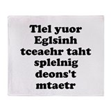 English Teachers Spelling Throw Blanket