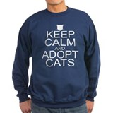 Keep Calm and Adopt Cats Sweatshirt
