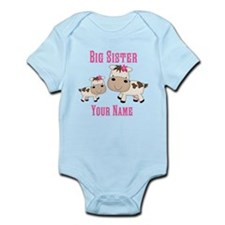 Big Sister Cute Cows Infant Bodysuit
