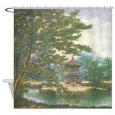 Tranquil Pagoda Shower Curtain