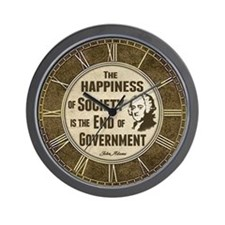Adams Quote - End of Government Wall Clock