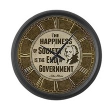 Adams Quote - End of Government Large Wall Clock