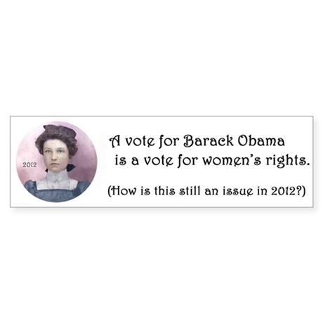 Vote Obama for Women's Rights Sticker (Bumper)