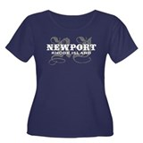 Newport Rhode Island Women's Plus Size Scoop Neck