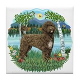 Birches - PWD(brn) Tile Coaster