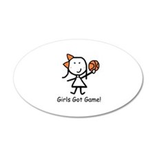 Girls Got Game 22x14 Oval Wall Peel