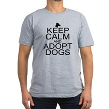 Keep Calm and Adopt Dogs T