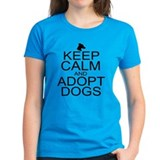 Keep Calm and Adopt Dogs Tee