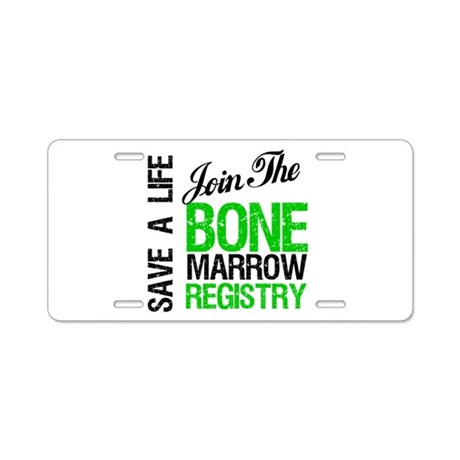 Join The Bone Marrow Registry Aluminum License Pla