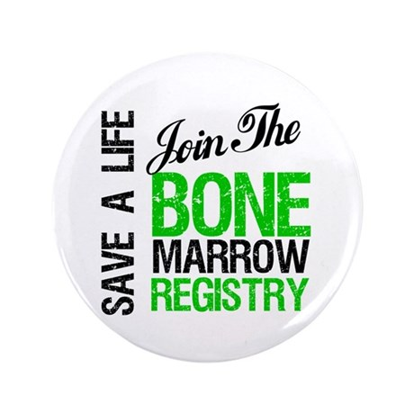 "Join The Bone Marrow Registry 3.5"" Button (100 pac"