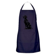 Cute Puppy Pajamas Apron (dark)