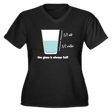 Always Full Women's Plus Size V-Neck Dark T-Shirt