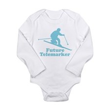 Cute Skiing kids Long Sleeve Infant Bodysuit