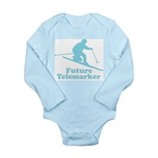 Unique Funny skiing Long Sleeve Infant Bodysuit