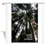 Church Of The Great Outdoors Shower Curtain