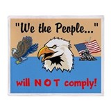 will NOT comply Throw Blanket