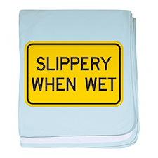 Slippery When Wet baby blanket