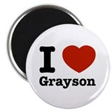 "I love Grayson 2.25"" Magnet (10 pack)"