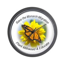 Save the Monarch Wall Clock
