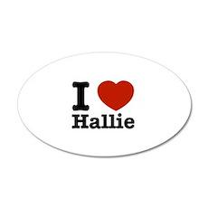 I love Hallie 22x14 Oval Wall Peel
