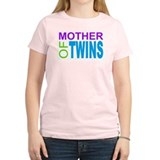 MOTHER OF TWINS Women's Pink T-Shirt