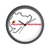 Nordschleife racing circuit Wall Clock