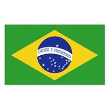 Brazil Flag Rectangle Decal