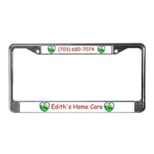 Edith's Home Care License Plate Frame