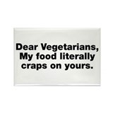 Dear Vegetarians Rectangle Magnet