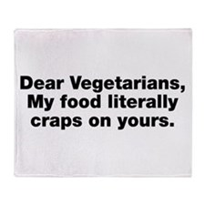Dear Vegetarians Throw Blanket
