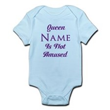 Personalized Queen Amused Infant Bodysuit