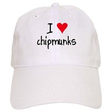 I LOVE Chipmunks Baseball Cap