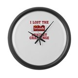 Lost the Bracket Challenge Large Wall Clock