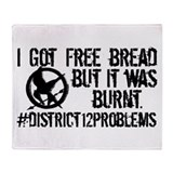 Free Bread Throw Blanket