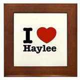 I love Haylee Framed Tile