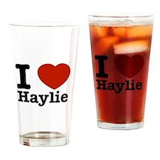 I love Haylie Drinking Glass
