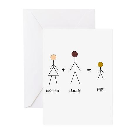 Biracial Pride/ Interracial Pride Greeting Cards (