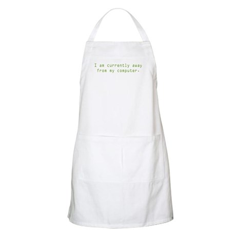 Currently Away BBQ Apron