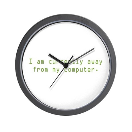 Currently Away Wall Clock