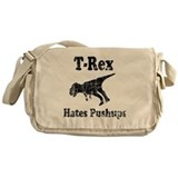 Vintage T-Rex hates Pushups Messenger Bag