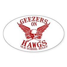 Geezers on Hawgs Decal