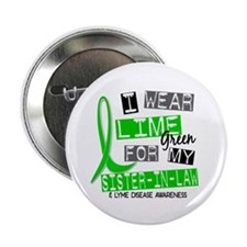 "I Wear Lime 37 Lyme Disease 2.25"" Button (100 pack"