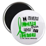 "I Wear Lime 37 Lyme Disease 2.25"" Magnet (10 pack)"