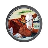 Hereford Calf Wall Clock