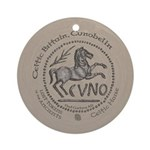 Celtic Horse Coin Ornament (Round)